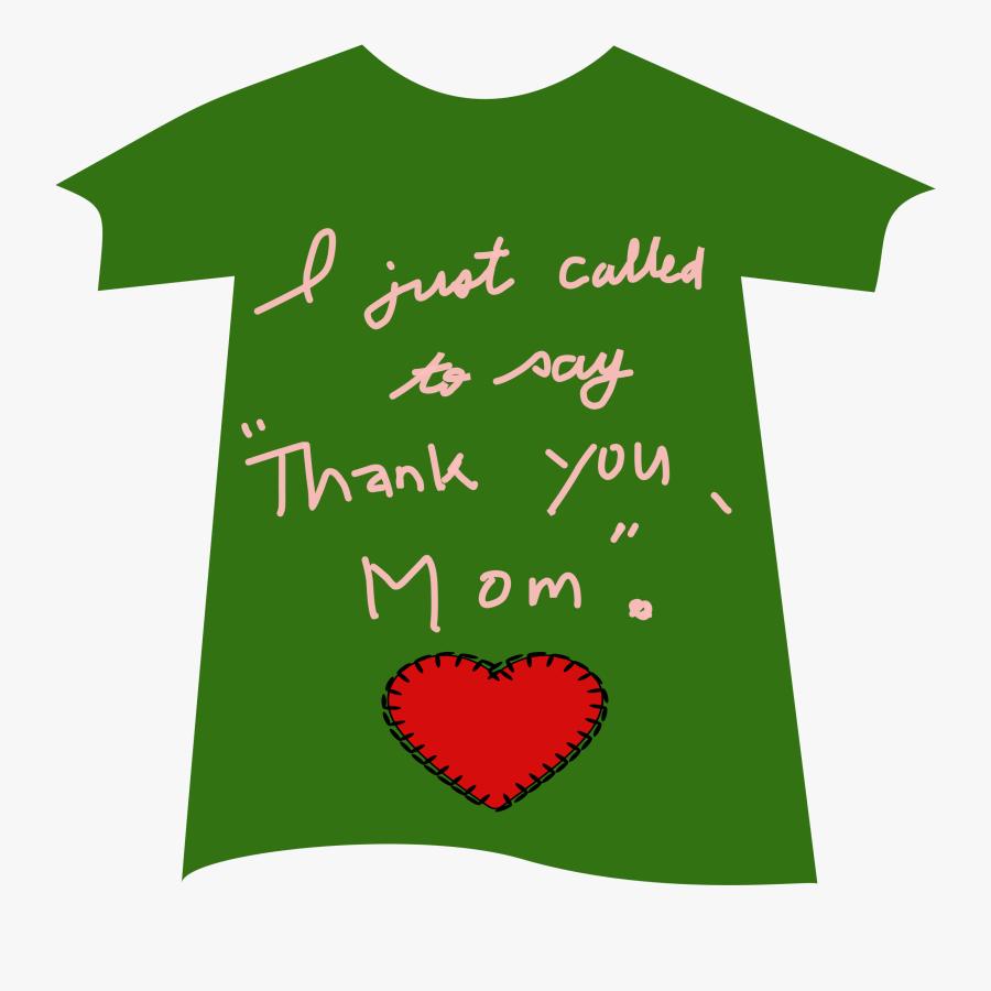 Tshirt Thankyou Mom 02 Clip Arts - Illustration, Transparent Clipart