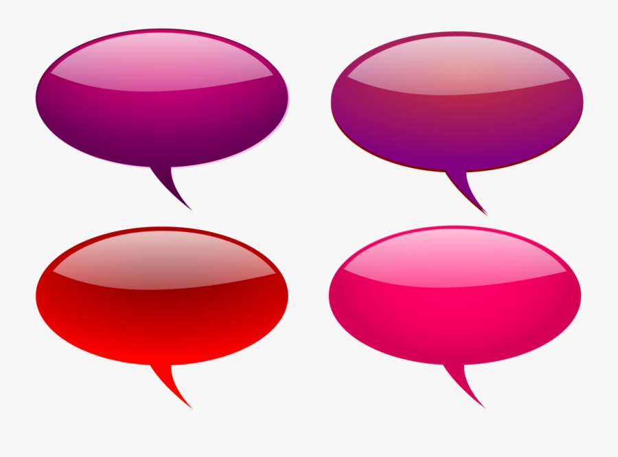 Maroon And Pink Shaded Speech Bubbles Svg Vector File, - Clipart Coloured Speech Bubble, Transparent Clipart
