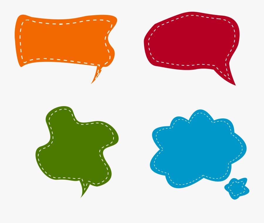 Colors Clipart Speech Bubble - Vector Dialog Box Png, Transparent Clipart