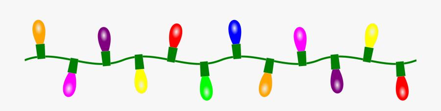 Christmas Clip Art Border Lights - Christmas Lights String .png, Transparent Clipart