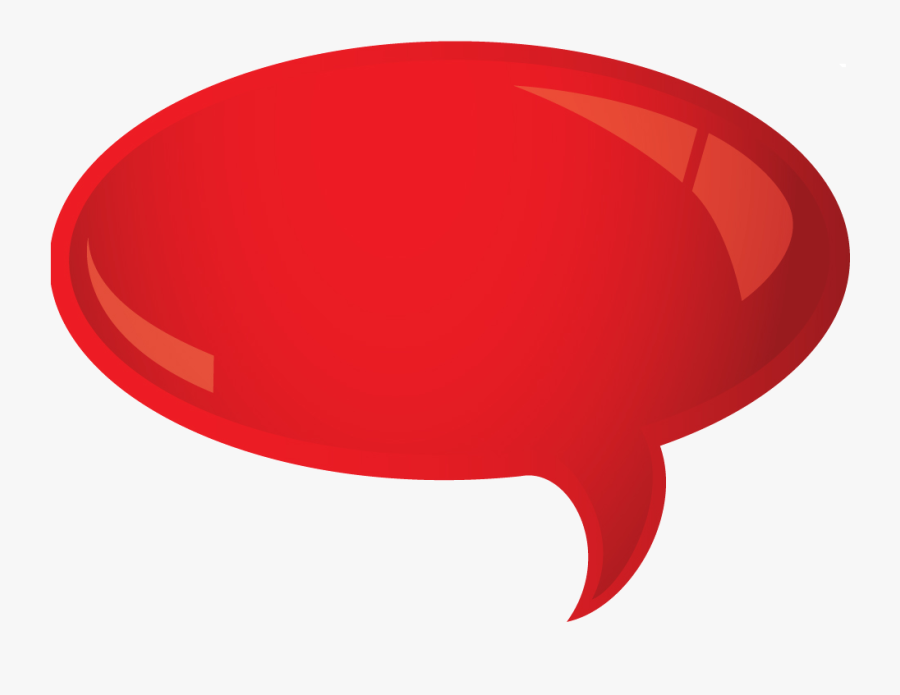 Red Rounded Bubble - Talk Bubble Red, Transparent Clipart