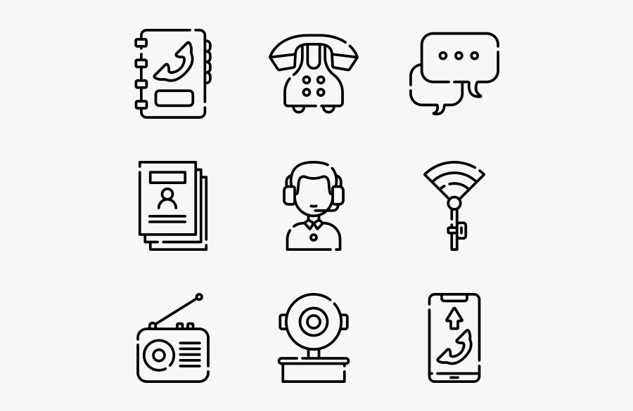 Contact Comunication - Game Icon Line, Transparent Clipart