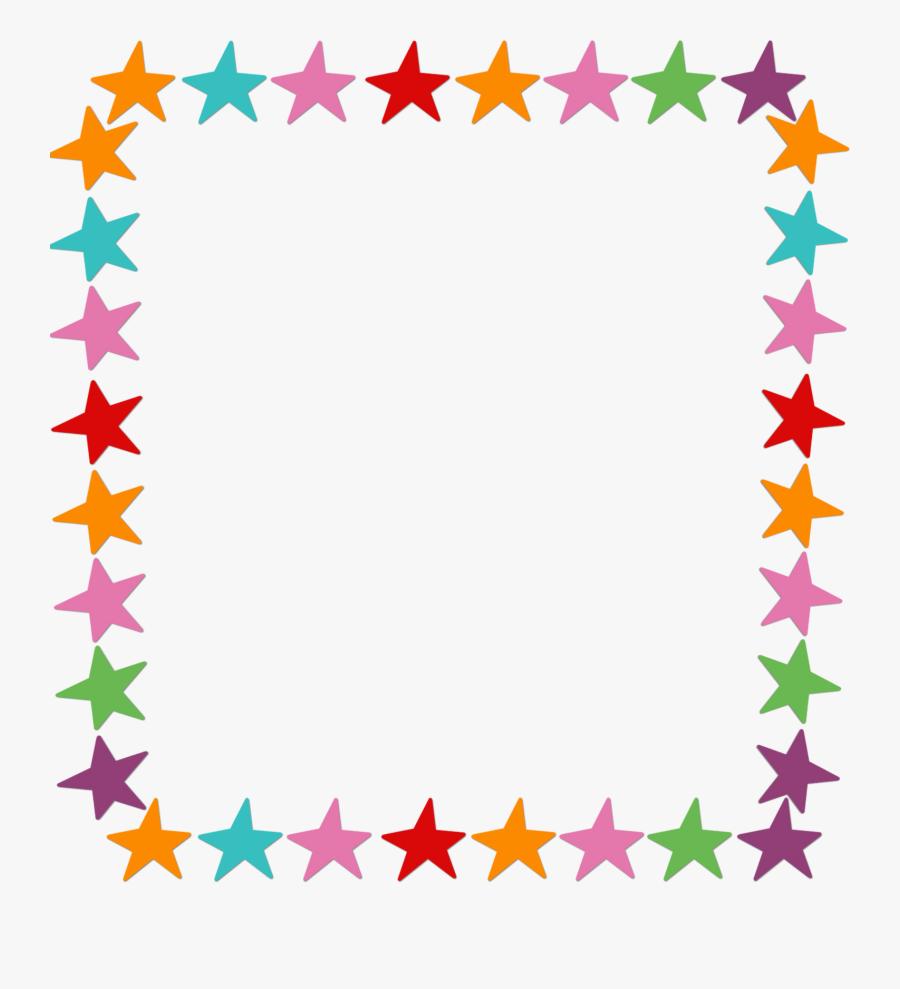 Star Frame - Christmas Lights Border Transparent, Transparent Clipart