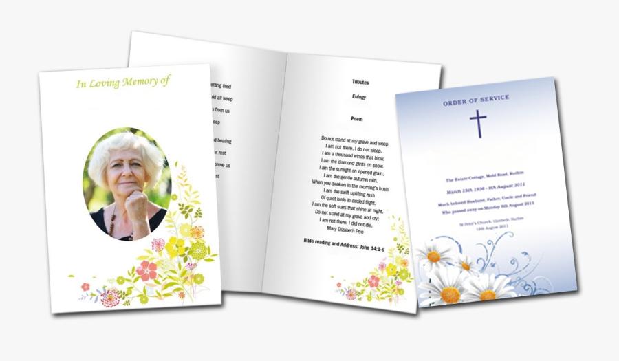 Clip Art Order Of Service Leaflets - Funeral Order Of Service Booklet, Transparent Clipart