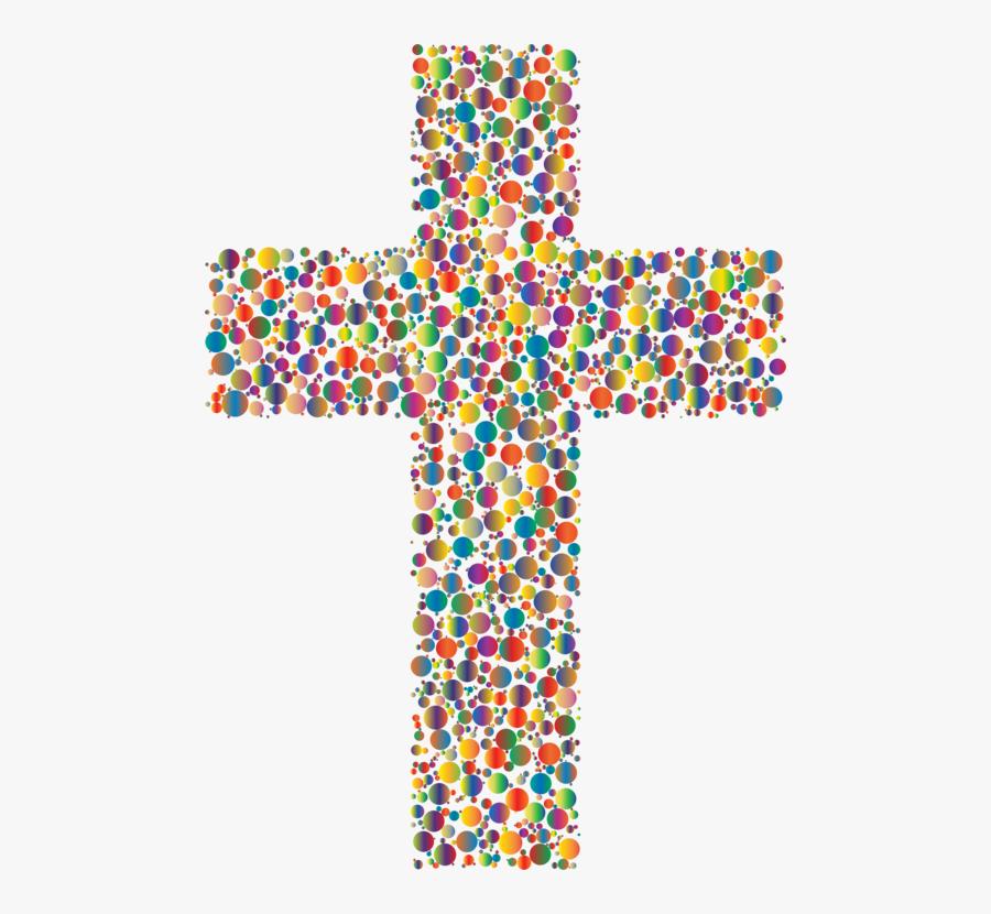 Symmetry,symbol,cross - Colorful Jesus Cross, Transparent Clipart