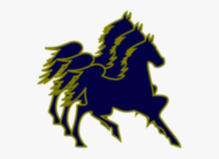 Triple Horse Logo, Transparent Clipart
