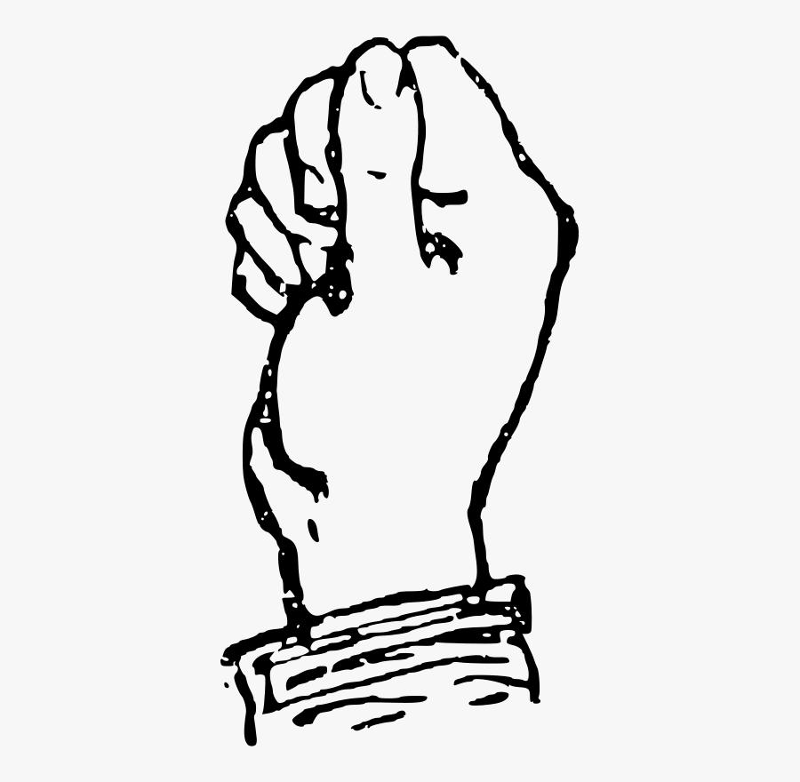 Deaf Alphabet A - Letter A Sign Language Color Sheet, Transparent Clipart
