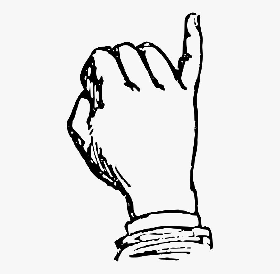 Deaf Alphabet I - Sigma Gamma Rho Hand, Transparent Clipart