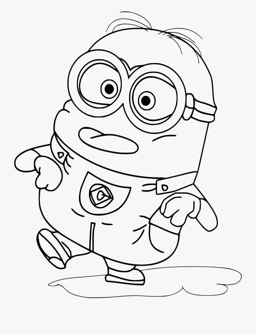 Cute Minion Colouring Pages , Free Transparent Clipart ...