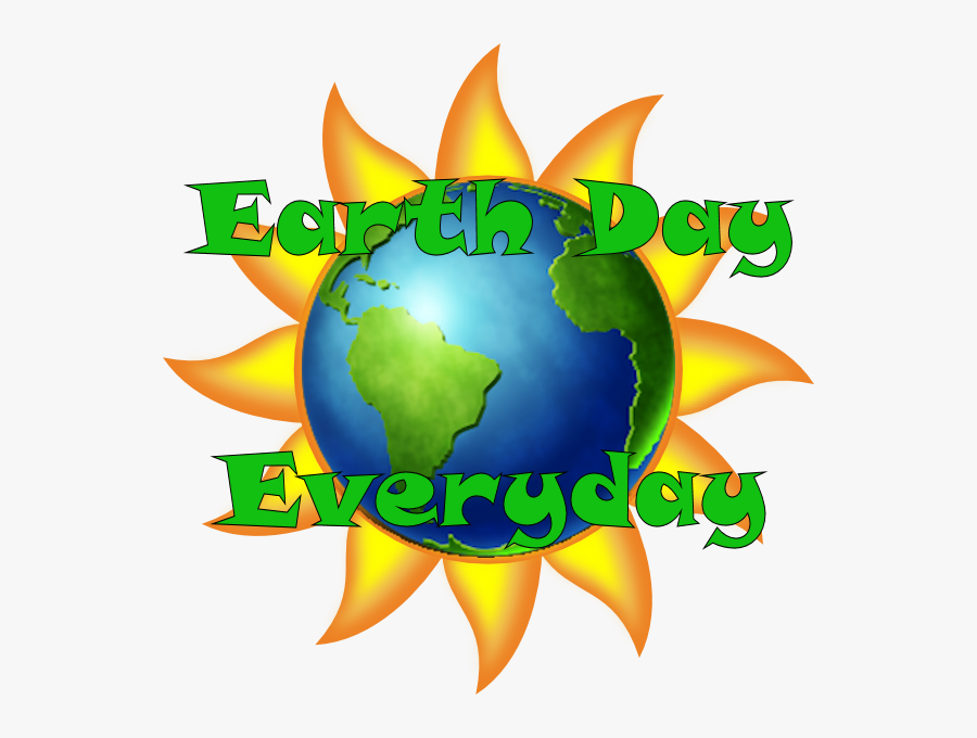 Earth Day Every Day Art, Transparent Clipart