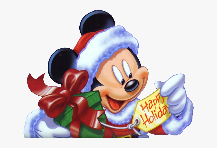 Happy Holidays Mickey Mouse, Transparent Clipart