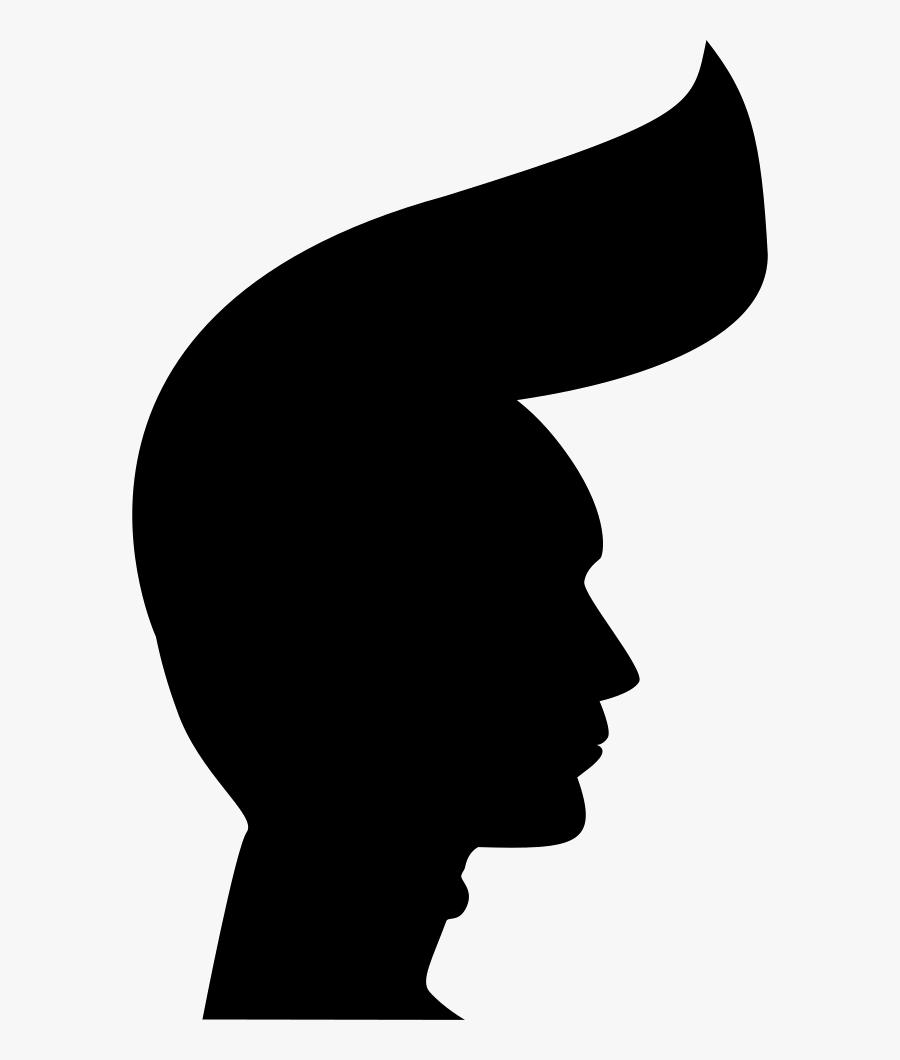 Punk Man Head Silhouette Comments - Silhouette Png Icon Man, Transparent Clipart