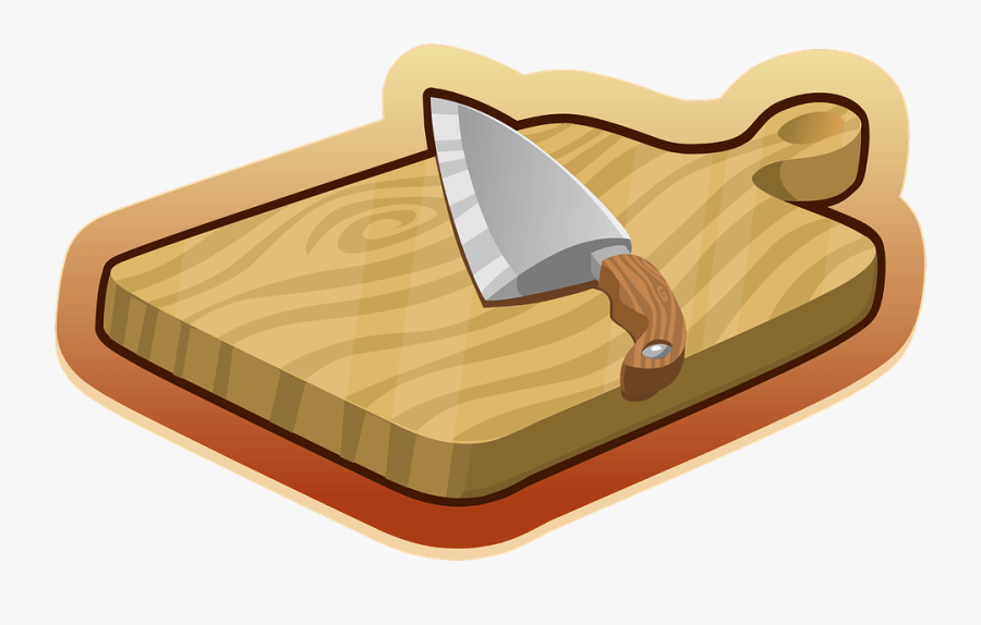 Clip Art Cutting Board Clip Art - Cutting Board Png Cartoon, Transparent Clipart