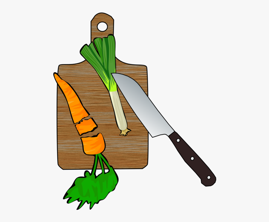 Cutting Board,tool,leek - Chop Vegetables Clipart Png, Transparent Clipart
