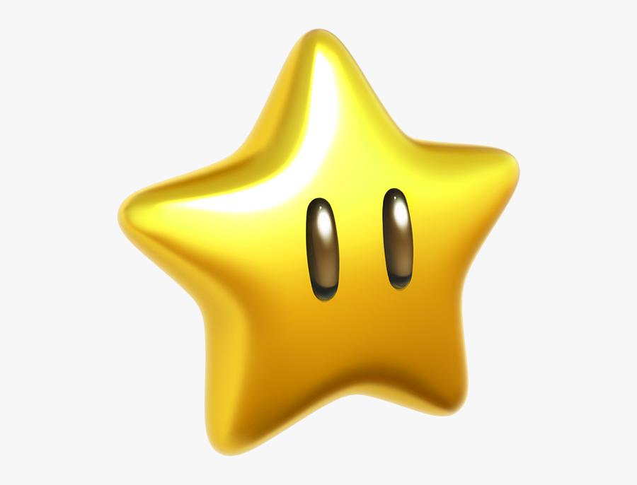 Super Mario Star Png - Super Mario Galaxy Power Star, Transparent Clipart
