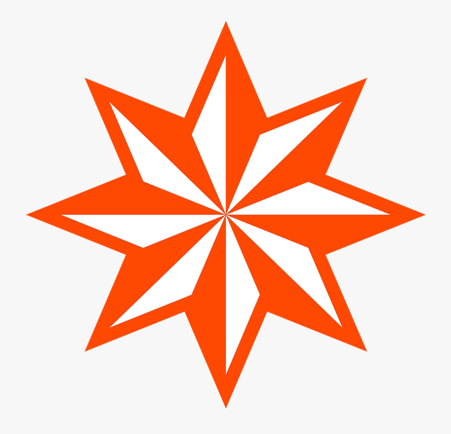 Transparent Red Asterisk Png - 8 Point Star Vector, Transparent Clipart