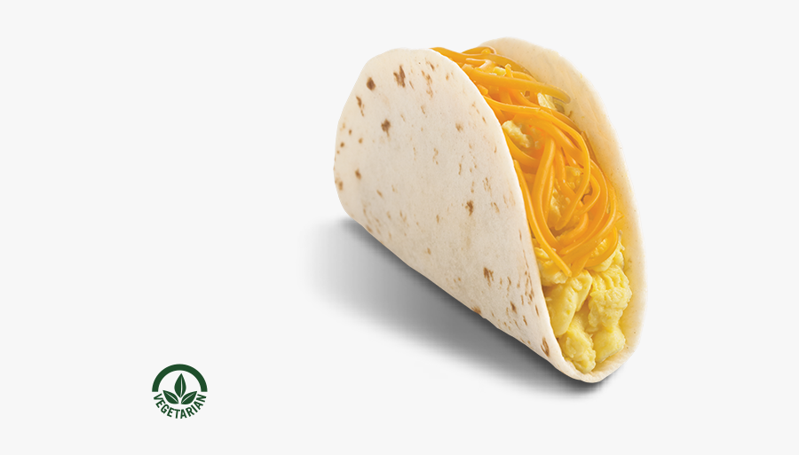 Tacos Clipart Breakfast Taco - Breakfast Soft Taco Egg And Cheese, Transparent Clipart