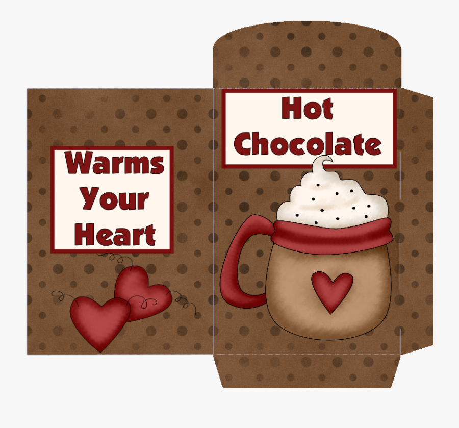 Hot Cocoa Envelope Printable, Transparent Clipart