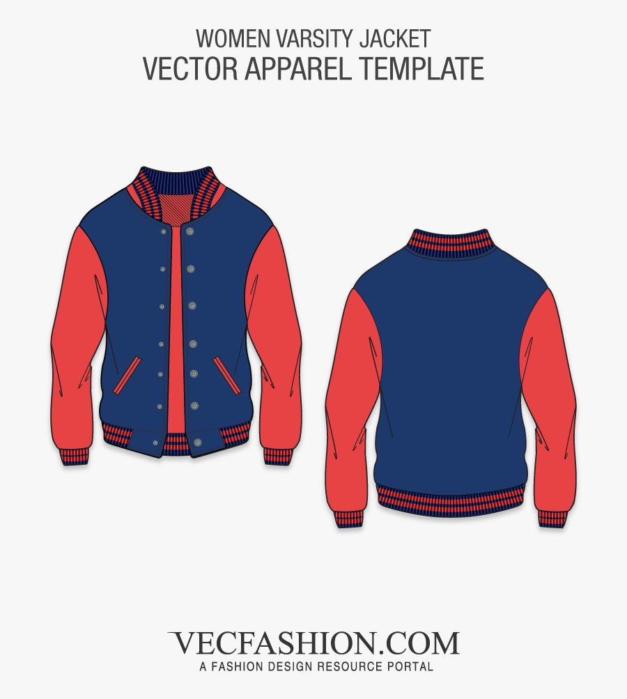 Clip Freeuse Stock Preserver Clipart Varsity Jacket - Baseball Jacket Design Templates, Transparent Clipart