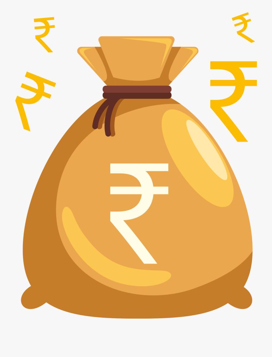 Money Bag Png - Indian Money Bag Png, Transparent Clipart