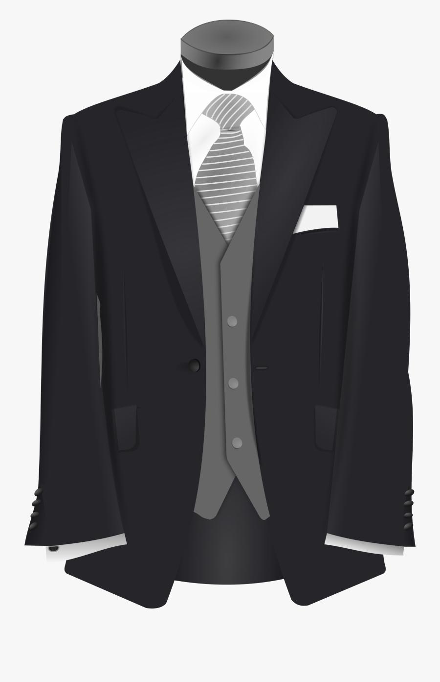 Wedding Suit - Clip Art Suit, Transparent Clipart