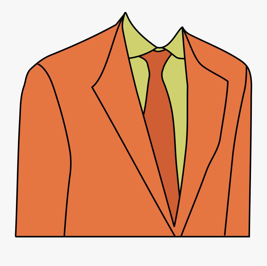 Image Free Clipart Suit - Orange Suit Clipart, Transparent Clipart