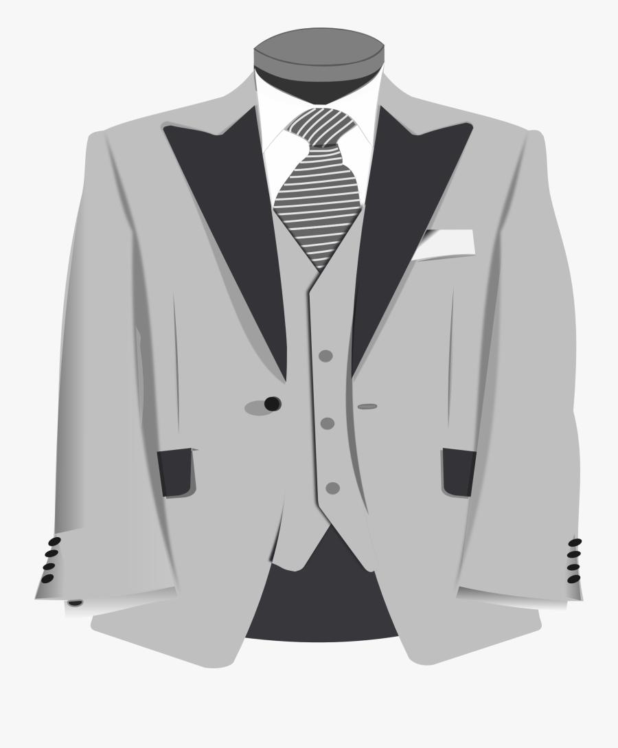 Blazer Clipart Formal Coat - Clip Art Suit Transparent, Transparent Clipart