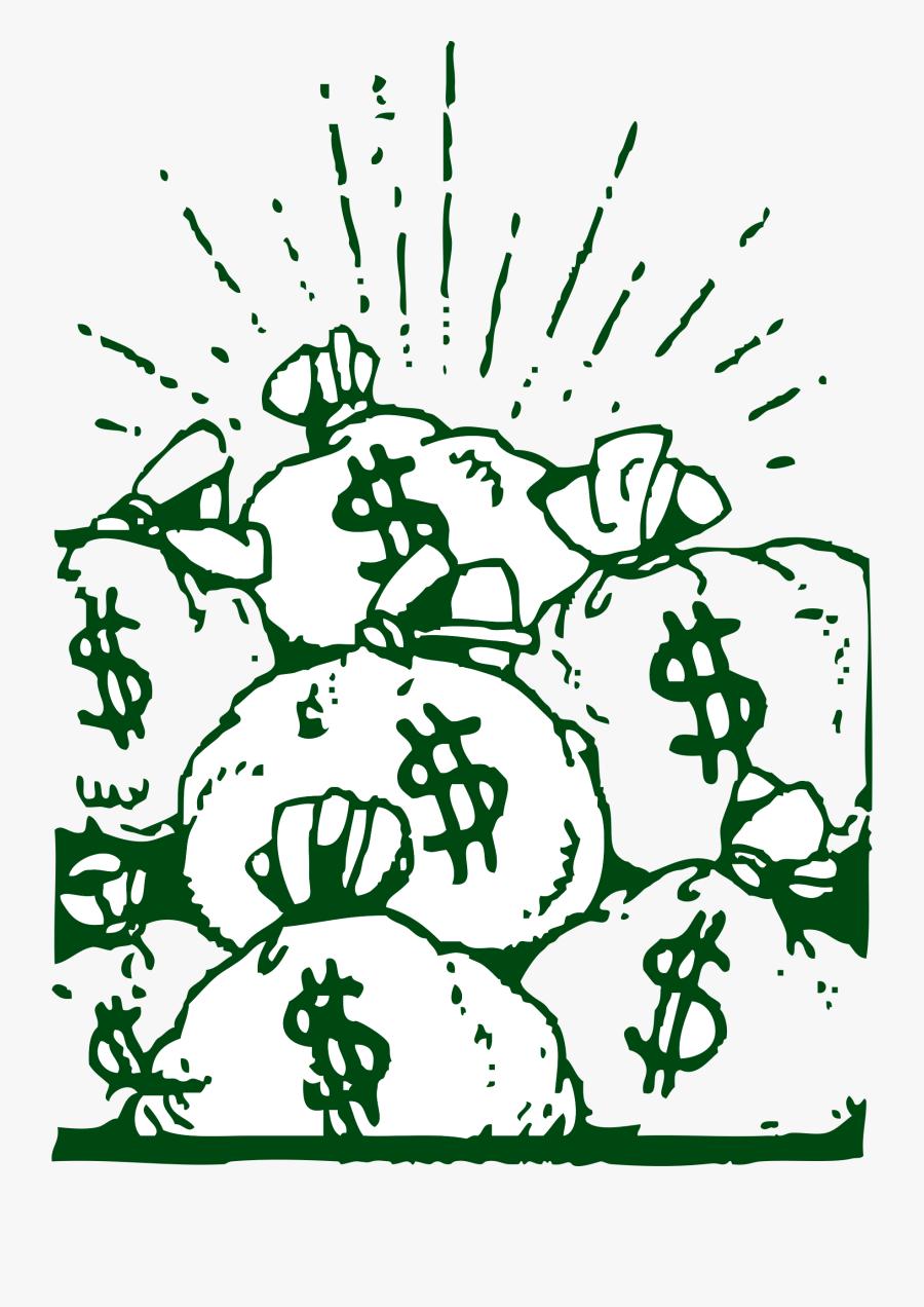 Money Bags Clipart - Money Bags, Transparent Clipart