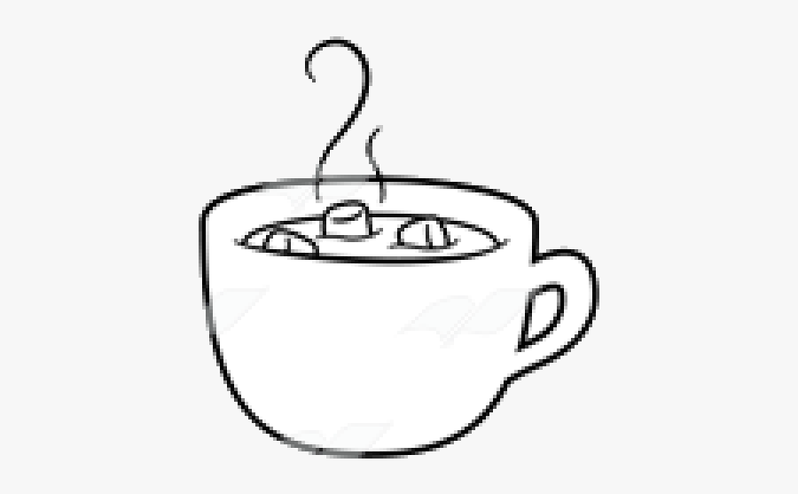 Hot Chocolate X Clipart Black And White Transparent - Hot Cocoa Black And White, Transparent Clipart