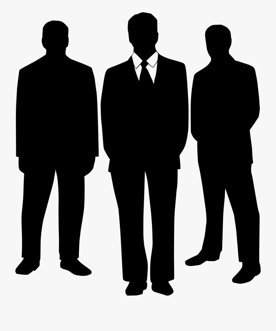 Men&suit Clipart - Men In Suits Silhouette, Transparent Clipart
