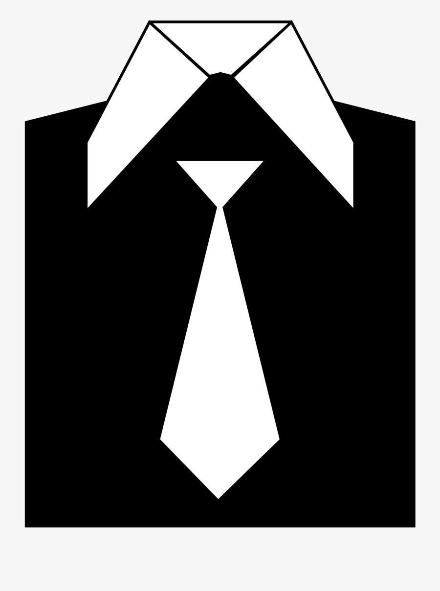 Triangle,necktie,angle - Suit Clipart Black And White, Transparent Clipart