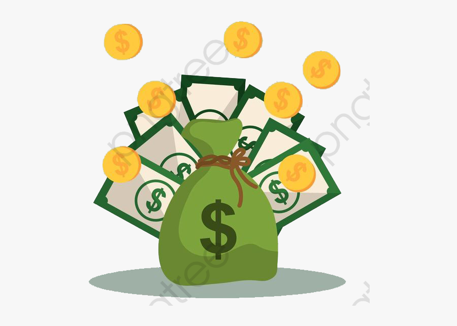 Purse, Bill, Gold Coin, Coin Clipart, Money, Cartoon - Money Bag, Transparent Clipart