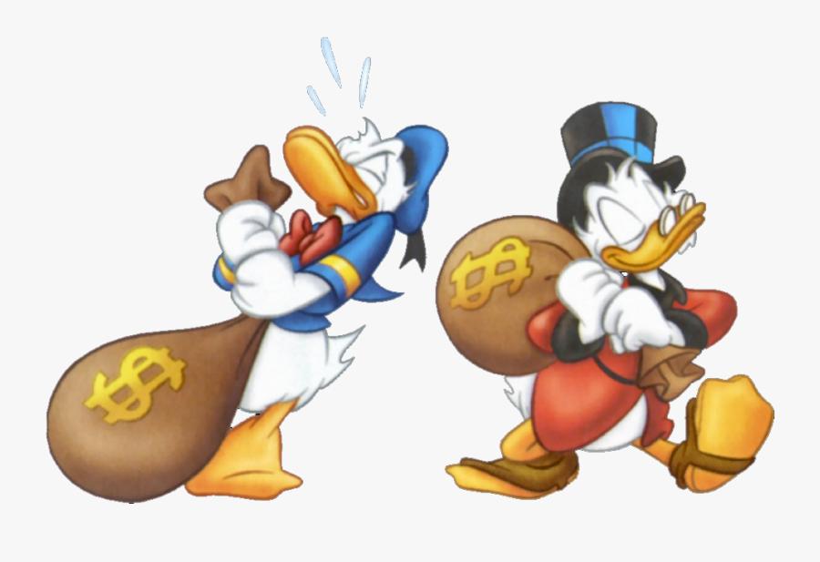 Character Clipart Money - Scrooge Mcduck Money Bag, Transparent Clipart