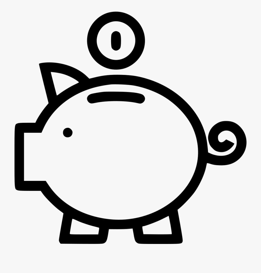 66357 - Money Bank Png White, Transparent Clipart