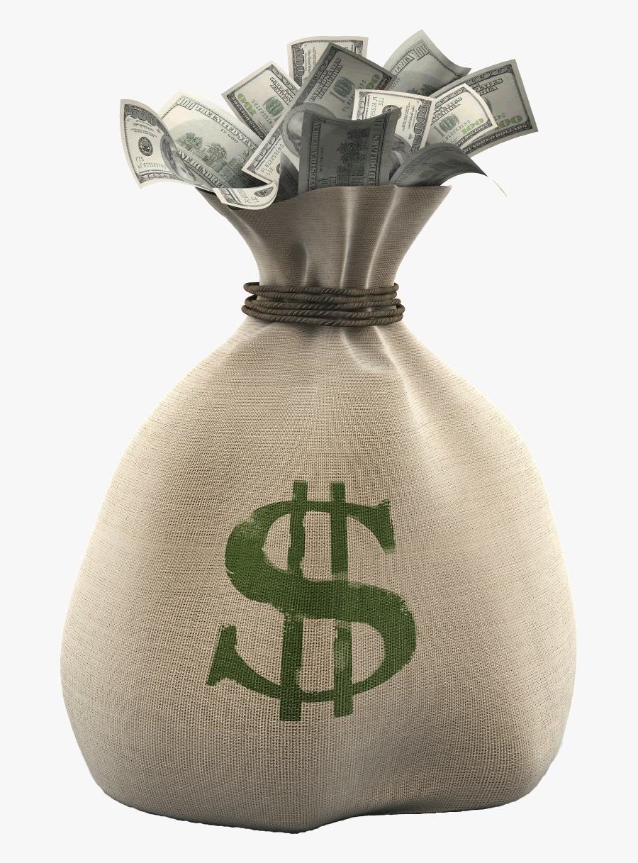 Bag Of Money Picture Desktop Backgrounds Png Royalty - Transparent Background Money Bag Png, Transparent Clipart