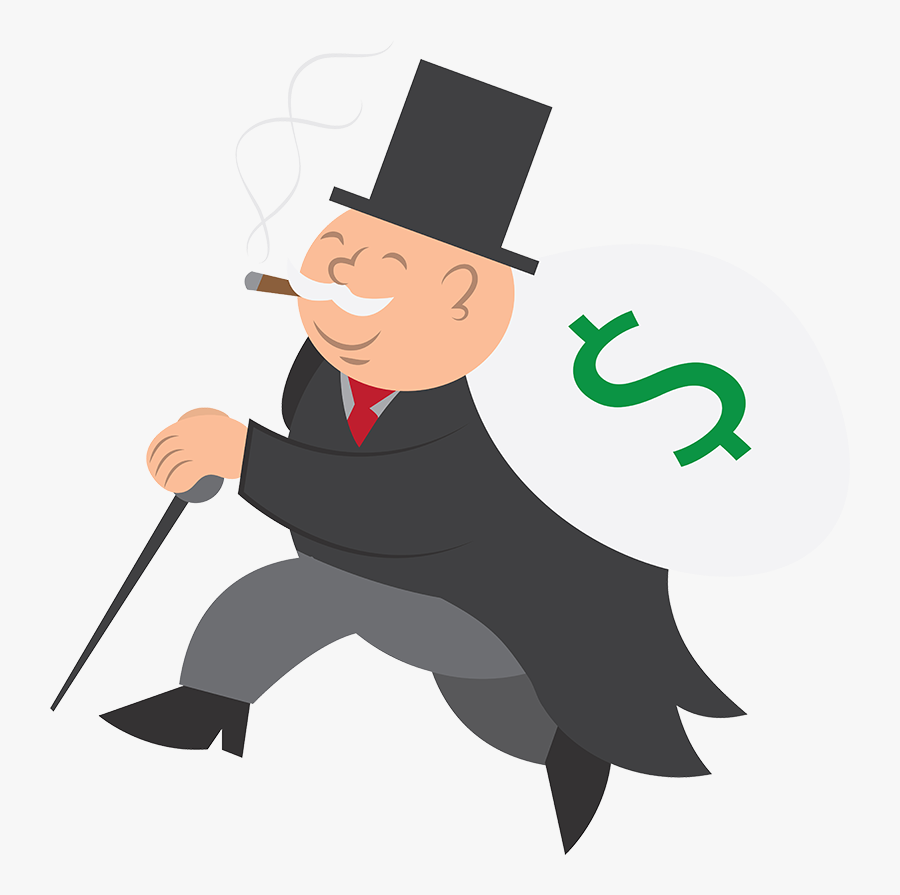 Money Man With Money Bag - Guy Running With A Bag Of Money, Transparent Clipart