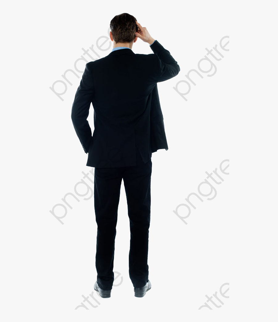 Person Scratching Head From Behind, Transparent Clipart