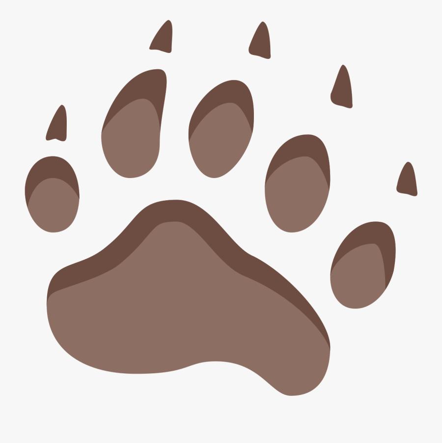 Footprint Clipart Pathway - Bear Footprint Png, Transparent Clipart