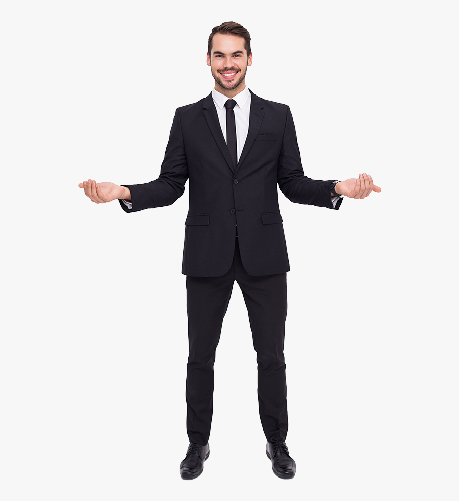 Transparent Handsome Guy Clipart - Man In Suit Png, Transparent Clipart