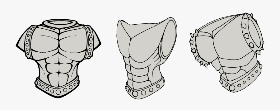 Suit Of Armor Png - Body Armor Drawing, Transparent Clipart