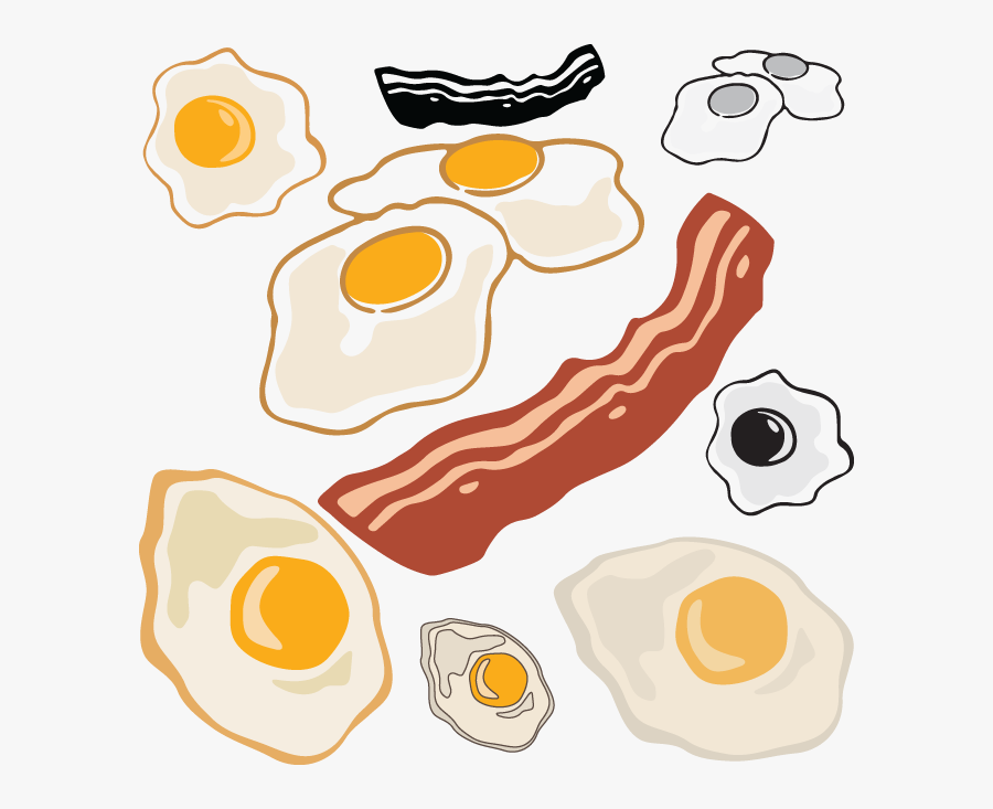 Egg And Bacon Clip Art, Transparent Clipart