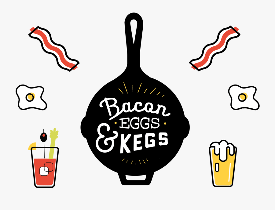 Transparent Bacon Clipart - Bacon Eggs And Kegs, Transparent Clipart