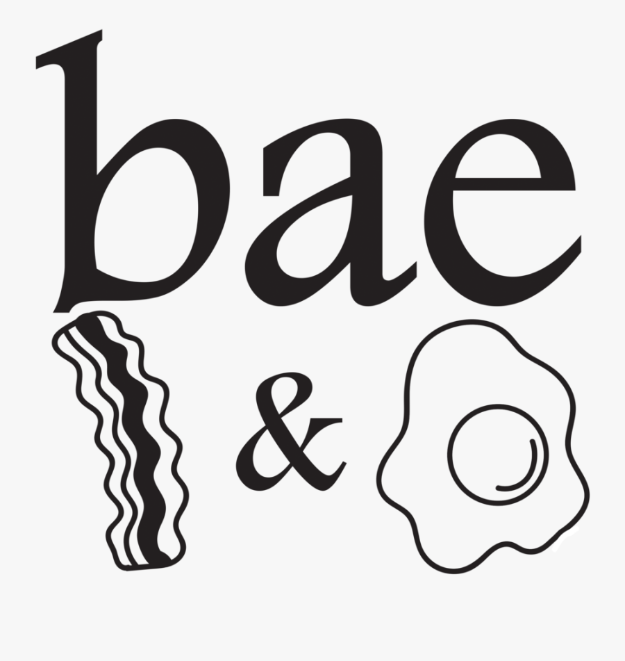Bae Shirt Bacon And Egg - Bae Bacon And Eggs Kids Tshirt, Transparent Clipart