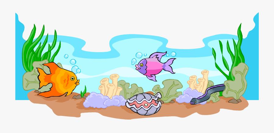Clip Art Ocean Scene Clip Art - Fish In Sea Clipart, Transparent Clipart