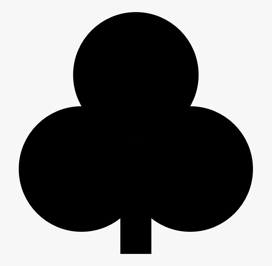 Silhouette,monochrome Photography,symbol - Club Playing Card Symbol, Transparent Clipart