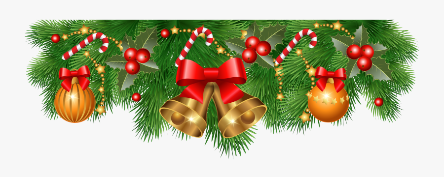 Christmas Ornaments Clipart Black And White Stock - Christmas Side Border Design, Transparent Clipart