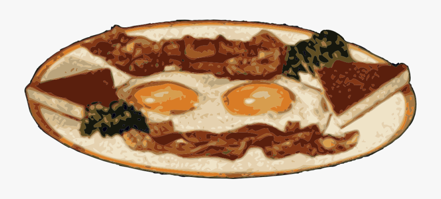 Bacon And Eggs, Transparent Clipart