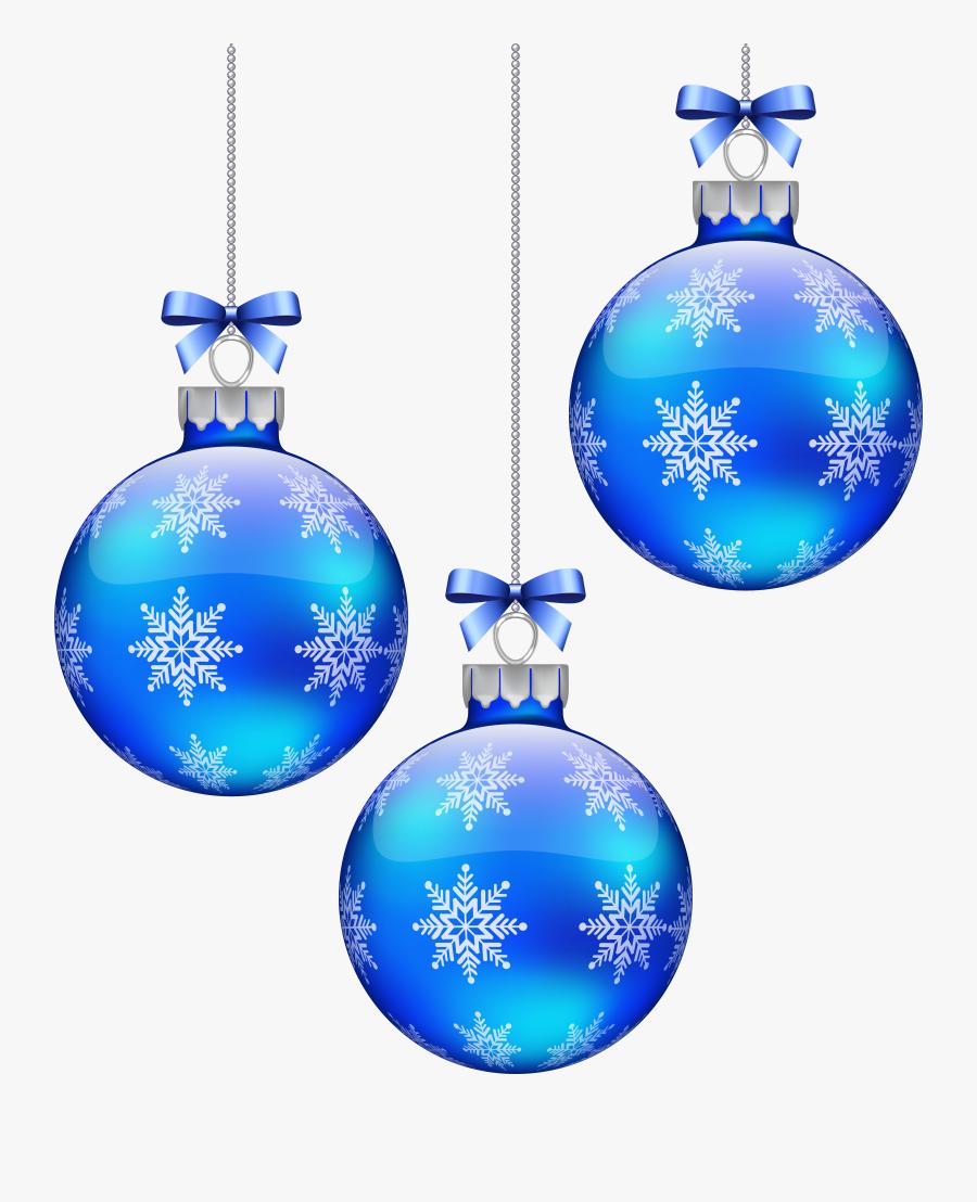 Blue Christmas Clip Art - Blue Christmas Decorations Png, Transparent Clipart