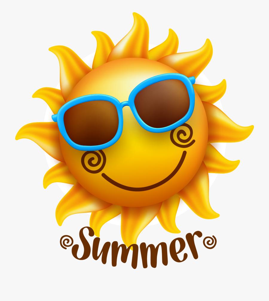 July Clipart Summer Sunshine - Summer Sun Transparent Background, Transparent Clipart