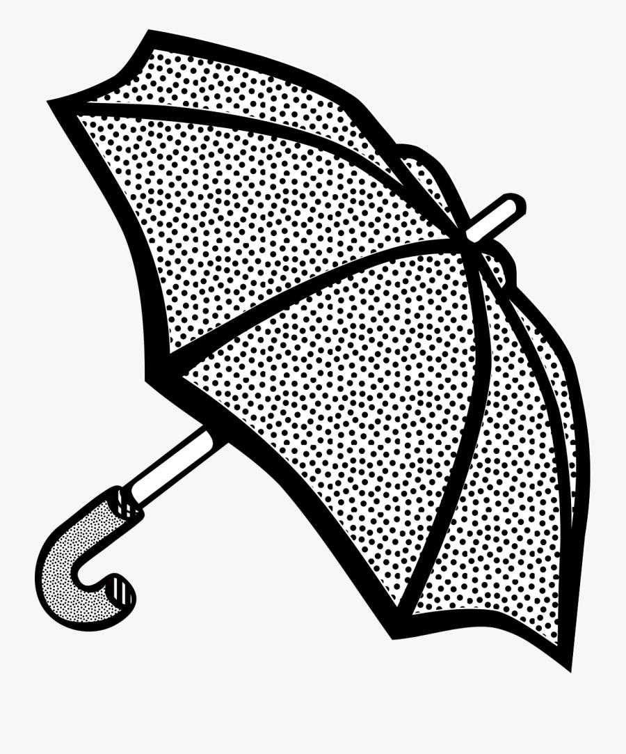 Umbrella,area,monochrome Photography - Umbrella Lineart, Transparent Clipart